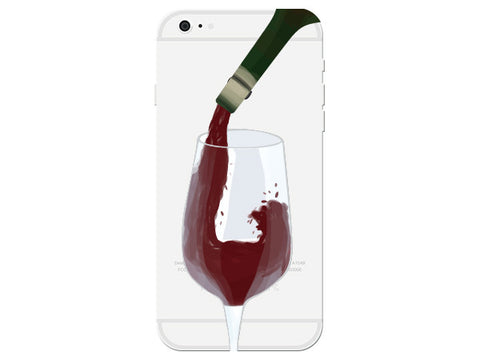 Red Wine Clear Phone Cover