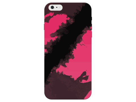 Pink & Black Ink Splattered Clear Phone Cover
