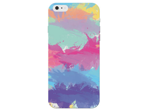 Colorful Painterly Pattern Striped Clear Phone Cover