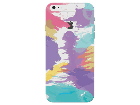Colorful Painterly Pattern Clear Phone Cover