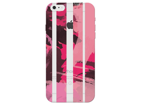 Pink Painterly Striped Pattern Clear Phone Cover