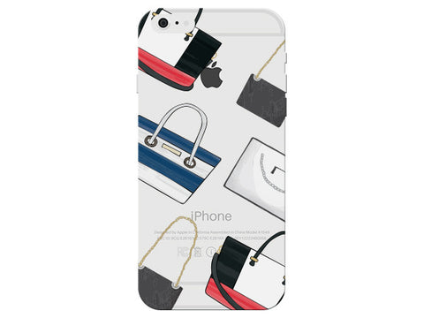 Fashion Purse Collage Clear Phone Cover