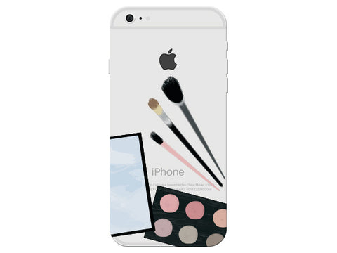 Fashion Makeup Clear Phone Cover