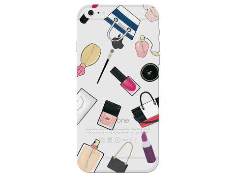 Fashion Makeup Collage Clear Phone Cover