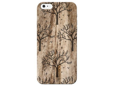 Natural Wood Grain Tree Design Phone Case