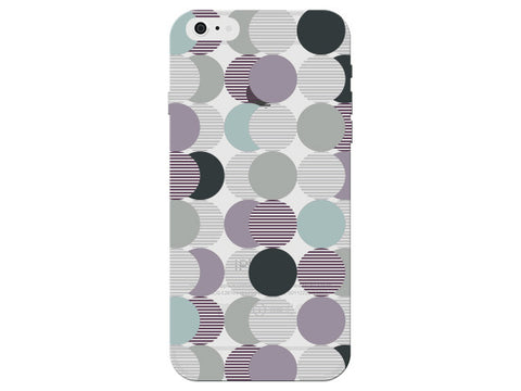 Purple Circles Clear Phone Cover