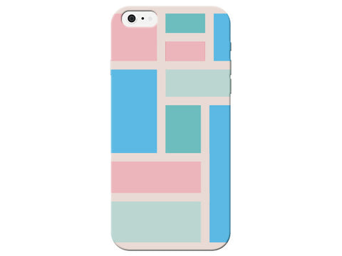 Pastel Squares and Rectangle Pastel Pattern  Phone Cover