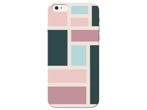 Pink Squares and Rectangle Pastel Pattern  Phone Cover