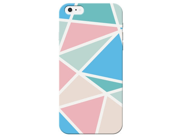 Triangle Geometric Pink & Blue Pastel Pattern  Phone Cover