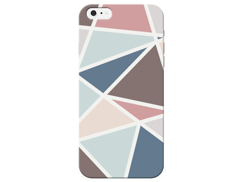 Triangle Geometric Brown & Blue Pastel Pattern  Phone Cover