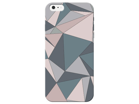 Triangle Geometric Brown & Pink Pastel Pattern  Phone Cover