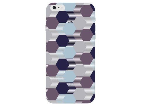 Hexagon Geometric Purple Pastel Pattern  Phone Cover