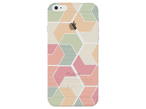 Geometric Stripes Red and Orange Pastel Pattern Phone Cover
