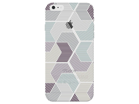 Geometric Stripes Purple and White Pastel Pattern Phone Cover