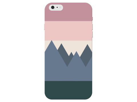 Abstract Mountain Scape Pastel Pattern Phone Cover