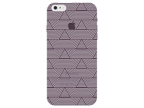 Purple Art Deco Pattern Clear Phone Cover