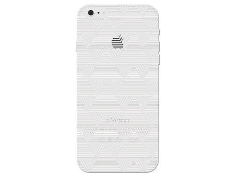 White Art Deco Pattern Clear Phone Cover