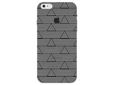 Black Art Deco Pattern Clear Phone Cover