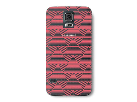 Red Art Deco Pattern Clear Phone Cover