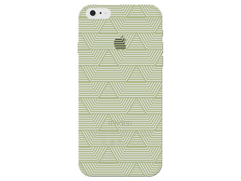 Green Art Deco Pattern Clear Phone Cover