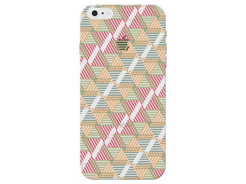 Striped Orange Geometric Pattern Clear Phone Cover