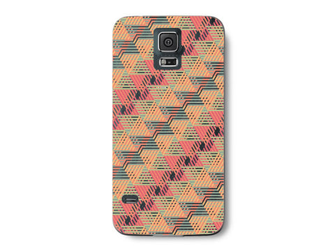 Diamond Orange Geometric Pattern Clear Phone Cover