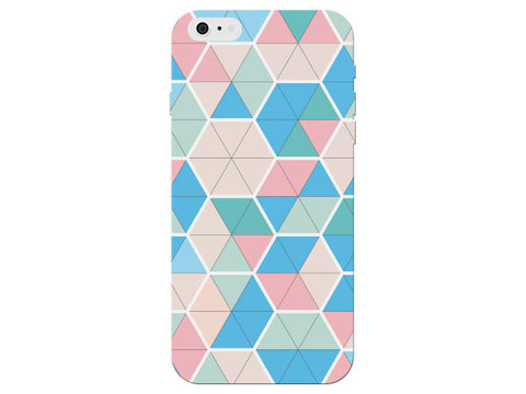 Triangle Hexagon Geometric Pattern Clear Phone Cover