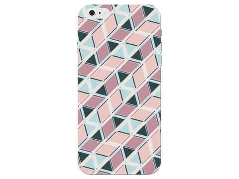 Triangle Diamond Geometric Pattern Clear Phone Cover