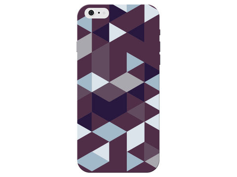 Triangle Purple Geometric Pattern Clear Phone Cover
