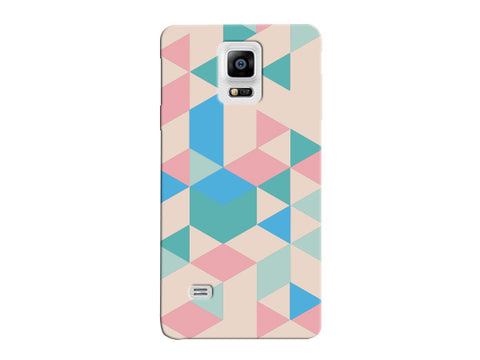 Triangle Pink and Blue Geometric Pattern Clear Phone Cover