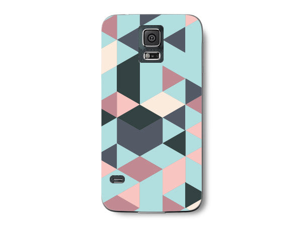 Triangle Blue Geometric Pattern Clear Phone Cover