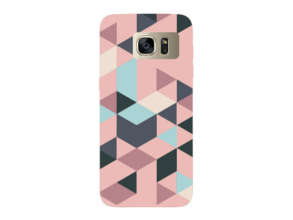Triangle Pink Geometric Pattern Clear Phone Cover