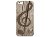 Natural Wood Treble Clef Phone Case