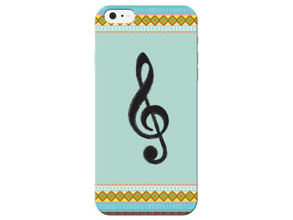 Patterned Music Treble Clef Phone Case