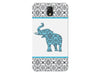 Blue & Grey Damask Elephant Phone Case