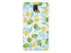 Yellow & Blue Tropical Floral Print Phone Case
