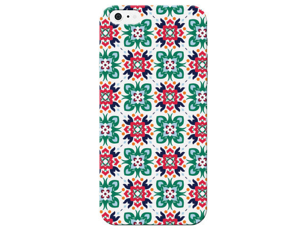 Geometric Floral Print Phone Case