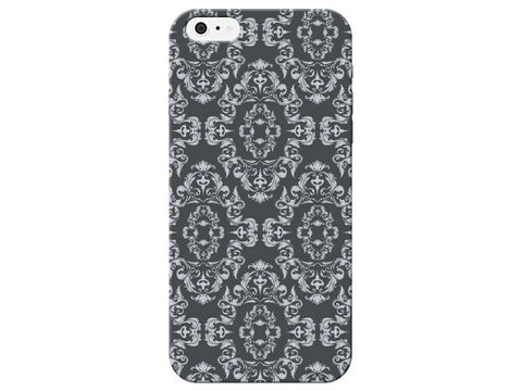 Pattern Large Grey Damask Print Phone Case