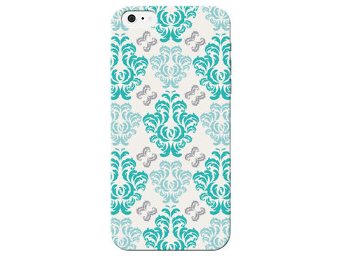 Light Blue Damask Print Fun Pattern Phone Case