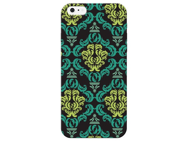 Green And Blue Damask Phone Case