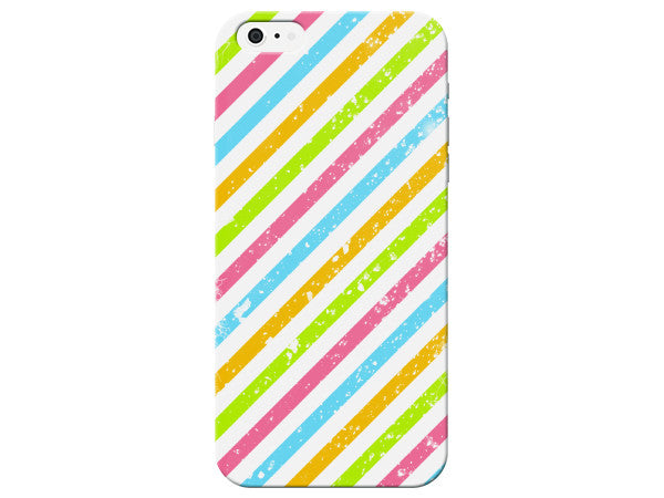 Striped Colorful Hard Plastic Phone Case