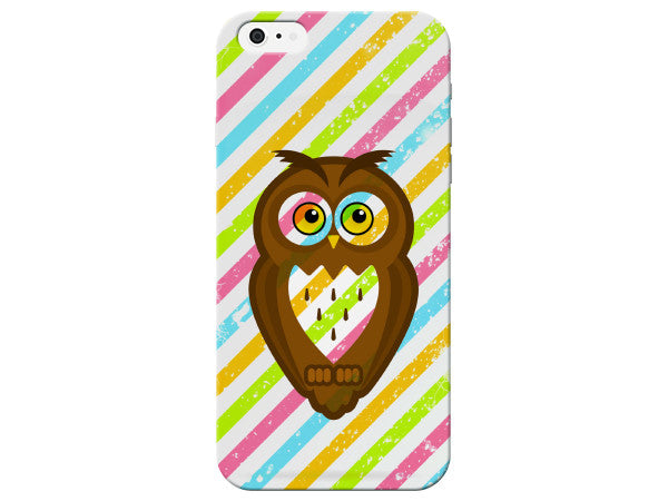 Color Stripe Owl Phone Case