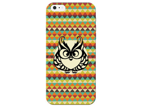 Owl Black Stencil Phone Case
