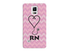 RN Stethoscope Pink Chevron Registered Nurse Case