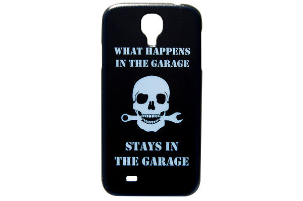 What Happens in the Garage Stays in the Garage Phone Case