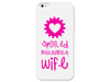 Cute Pink Mechanics Wife Plastic Phone Case