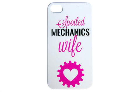 Pink & Black Spoiled Mechanics Wife Phone Case