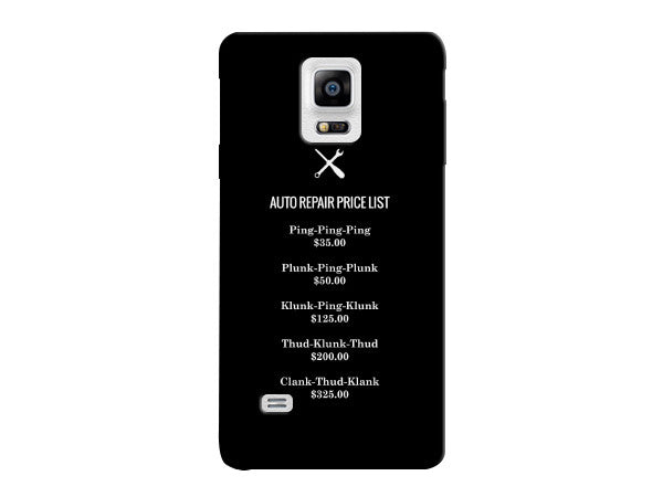 Funny Auto Repair Price List Phone Case Icandy Products Com