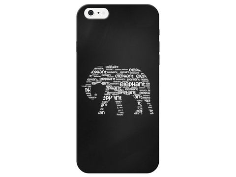 Cute Worded Elephant Design Phone Case