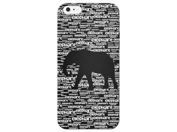 Worded Negative Space Elephant Phone Case